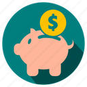 business, buy, cash, coin, currency, dollar, ecommerce, economy, finance, financial, money, payment, pig, price, receber, sale, save icon