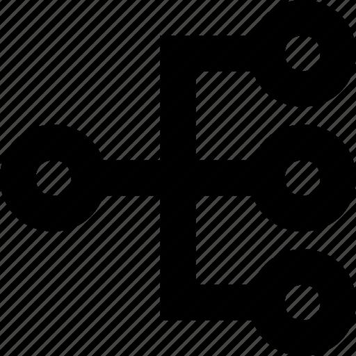 hierarchy, scheme, sitemap, workflow icon
