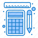 calculation, measurement, rulers, tools icon