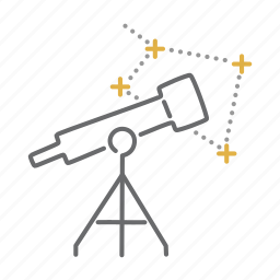 astronomy, constelation, space, star, telescope icon