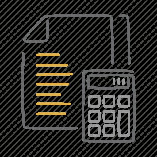 accounting, calc, calculate, calculation, math, mathematics icon