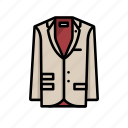 cream, dinner, jacket, suit icon