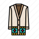 african, aztec, bright, cardigan, cultural, traditional icon