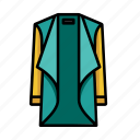 cardigan, colourful, glow, jacket, long, lookbook, reveal icon
