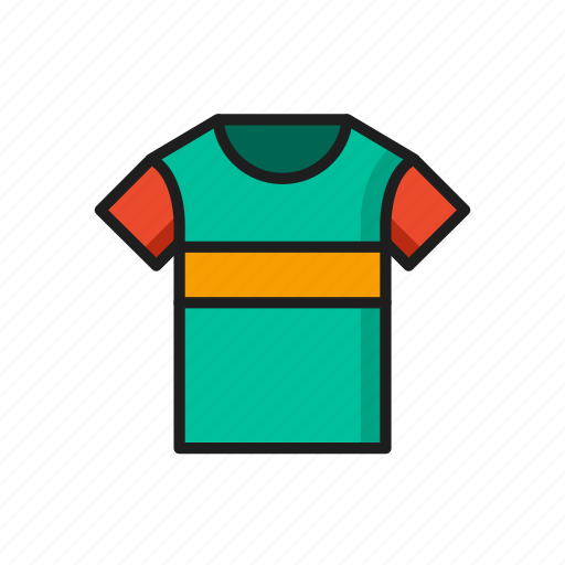 athletic green kit orange red sports tshirt icon