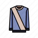 feature, jumper, pastel, stripe, sweater icon