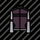 athlete, athletic, attire, biker, jacket, leather, walk icon