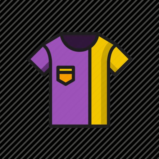 and, kit, purple, sports, sportswear, tshirt, yellow icon