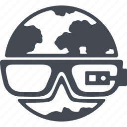 eyeglasses, high-tech glasses, spectacles, sunglasses icon