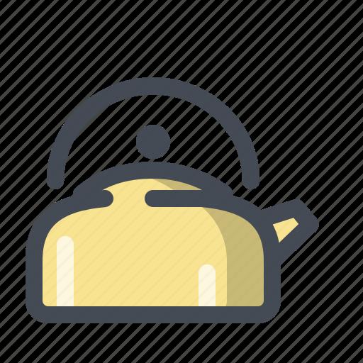 camping, coffee, hiking, hot water, pot, tea, water icon