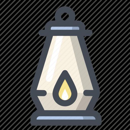 camping, flashlight, lamp, light, tourism, travel, vacation icon