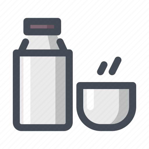 bottle, camping, cup, drink, hiking, outdoor, thermos icon