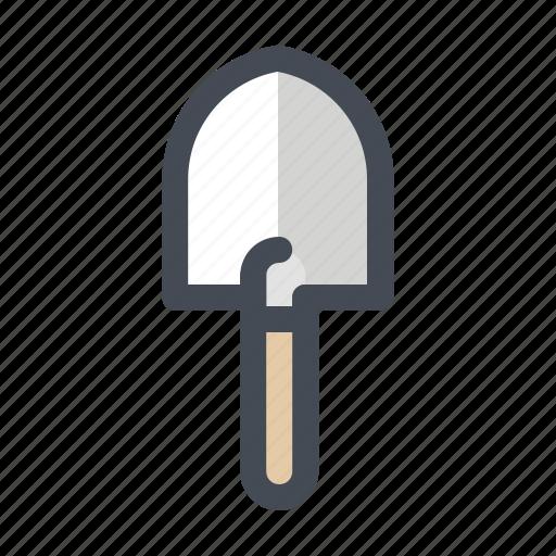 camping, hiking, shovel, spade, summer, tools, trowel icon