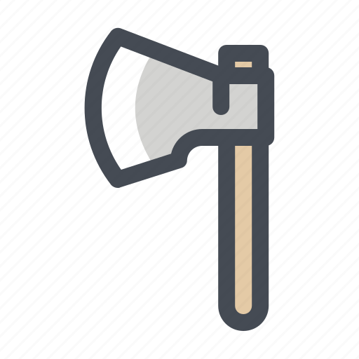 ax, axe, hatchet, hiking, lumberer, lumberjack, lumberman icon