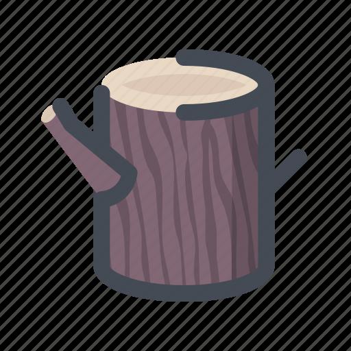 ecology, environment, hiking, nature, tree, wood, wood log icon