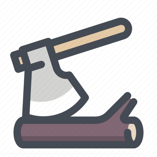 ax, axe, camping, firewood, forest, lumberjack, wood icon
