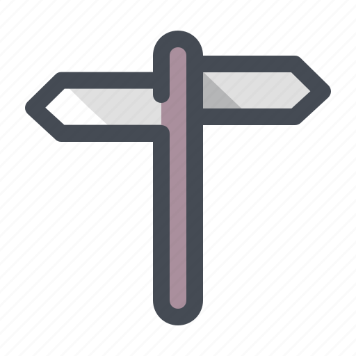 Hiking, navigation, pointer, road, road sign, trail, travel icon - Download on Iconfinder