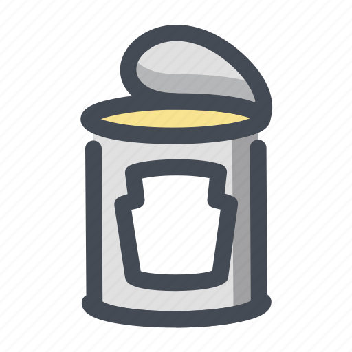 camping, canned, canned meat, cooking, food, hiking, meal icon