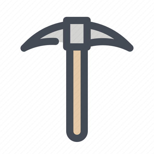 axe, camping, equipment, hiking, mountain climber, tourism, vacation icon