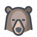 bear, camping, forest dweller, grizzly, hiking, holiday, summer icon