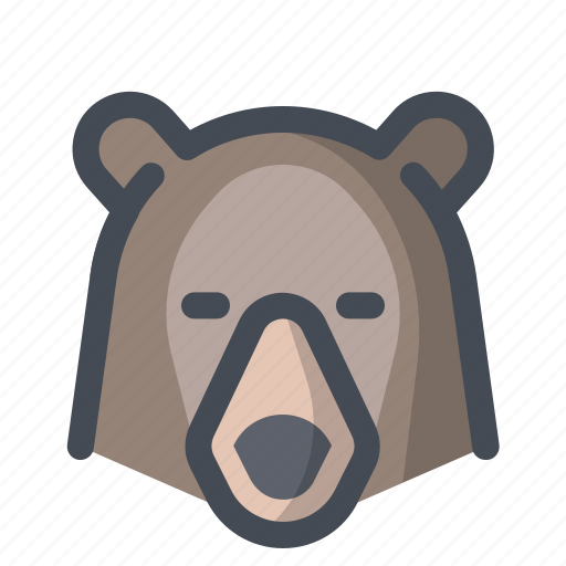 Grizzly, hiking, bear, forest dweller, holiday, camping icon - Download on Iconfinder