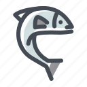 camping, fish, fishing, ocean, outdoor, sea, vacation icon