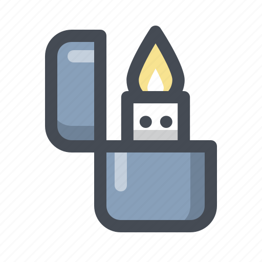 Hiking, fire, flame, holiday, lighter, outdoor, zippo icon - Download on Iconfinder