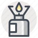 burner, camping, cooking, hiking, kerosene, warm, warm up icon