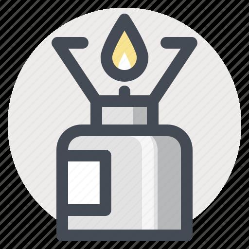 burner, camping, cooking, hiking, kerosene, warm, warm up icon