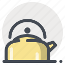 camping, coffee, hiking, hot water, tea, water icon