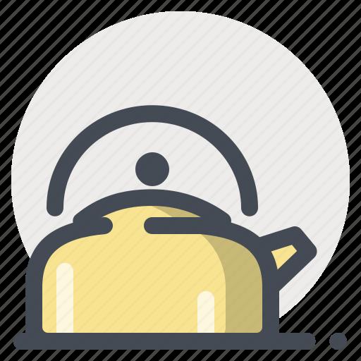 camping, coffee, hiking, hot water, tea, water icon