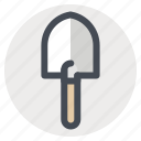 camping, hiking, outdoor, shovel, spade, tools, trowel icon
