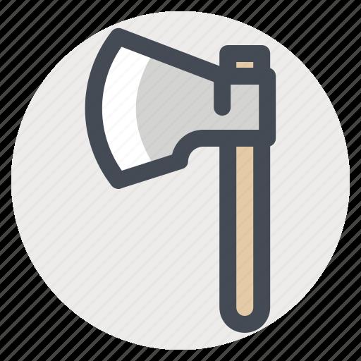 ax, axe, hatchet, hiking, lumberer, lumberjack, lumberman, parks icon