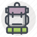 backpack, bag, camping, hiking, outdoor, tourism, travel icon