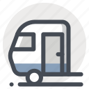 camping, car, caravan, hiking, house, transport, travel icon