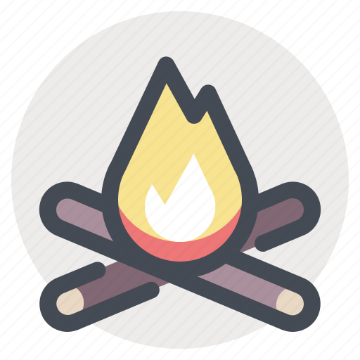 adventure, bonfire, camp, campfire, camping, fire, flame, hiking icon