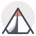 adventure, camp, campfire, camping, hiking, outdoor, tent, travel icon