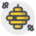 bee, bee swarm, bees, hiking, hive, honey, honeycomb icon