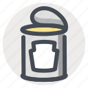 canned, canned meat, cooking, food, hiking, travel, vacation icon