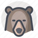 bear, camping, forest dweller, grizzly, hiking, outdoor, vacation icon