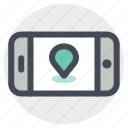 hiking, location, map, move, phone, pin, travel icon
