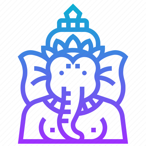 avatar, elephant, ganesha, god, hindu, india, tale icon