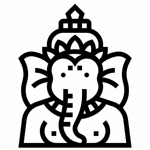 avatar, elephant, ganesha, god, hindu, india, tale icon