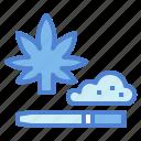 botanical, cannabis, drug, marijuana icon