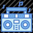 boombox, mixing, music, radio