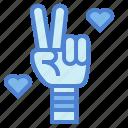 gestures, hippie, love, peace, winner