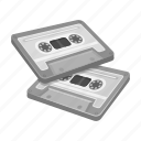 audio, cassette, music, player, recording, retro, tape recorder icon