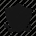 emblem, hippodrome, horse, ribbon, shield icon