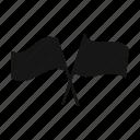 flag, go-ahead, race, racecourse