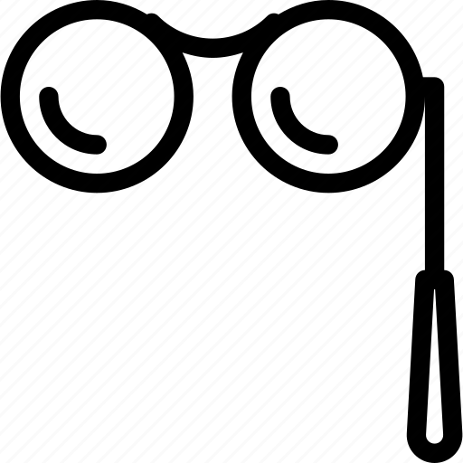 eyeglasses, glasses, magnifying, spectacles, view icon